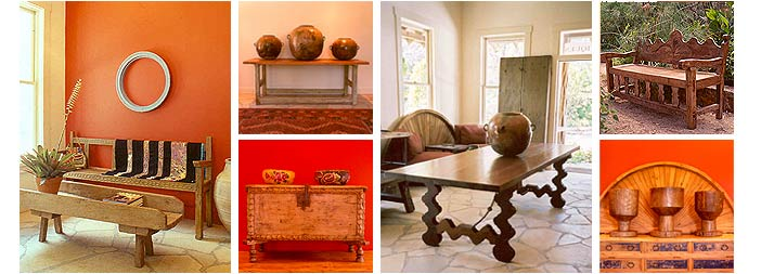 Antique Wood Tables, Mexican Colonial Tables, Mexican Colonial Benches, Antique Doors, Hacienda Furniture, Mexican Style Tables