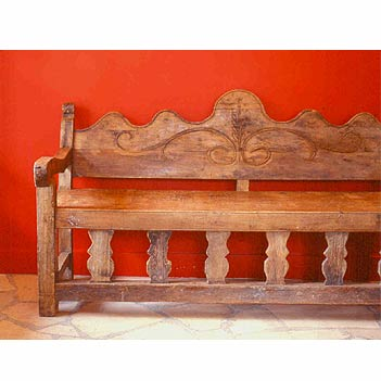 Spanish Colonial Furniture, Mexican Antique Furniture, Spanish Colonial Benches and Trunks